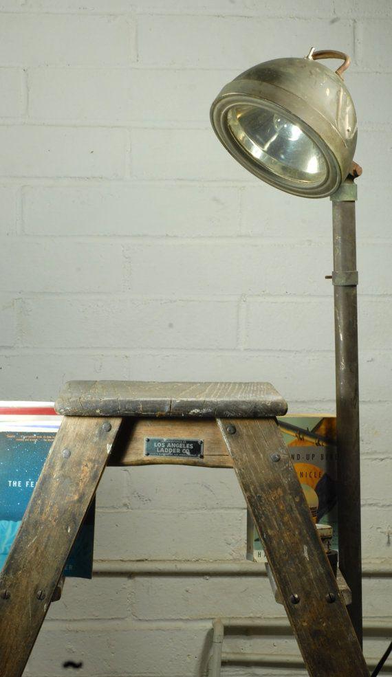 Just Custom Lighting   Listings View Antique Reclaimed Boat Desk Lamp.