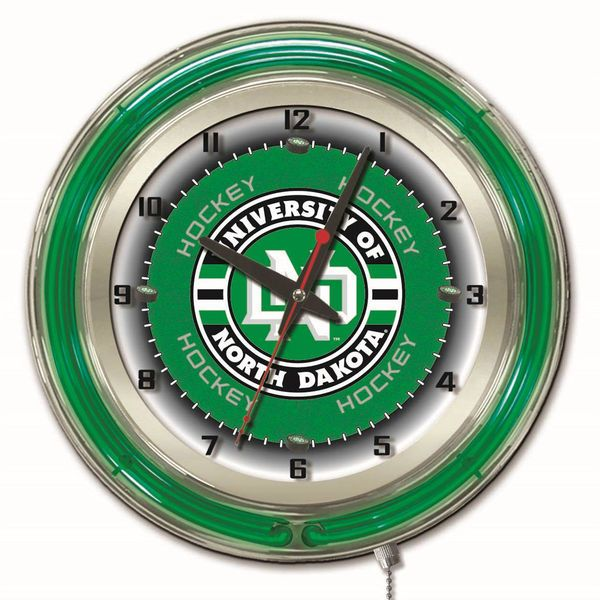 "North Dakota 19"" Hockey Neon Wall Clock - $219.99"