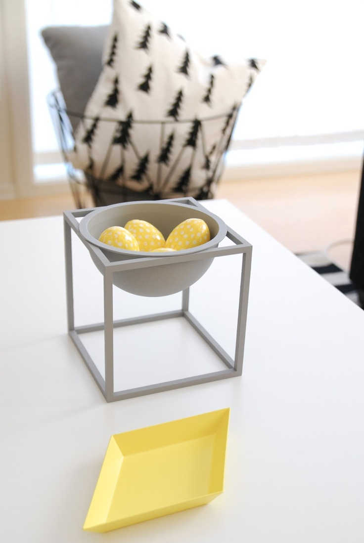 Via Fargebarn | Grey and Yellow | Hay Kaleido | By Lassen Bowl | Fine Litte Day Pillow