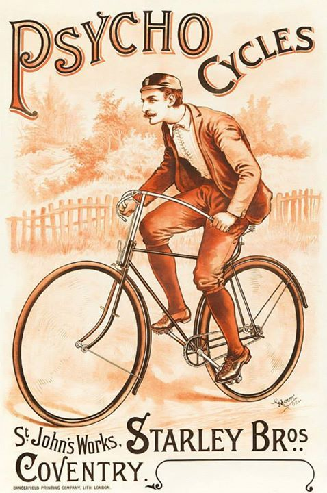 Psycho Cycles by Moore, ca.1892. ~via Vintage Advertising and Poster Art, FB