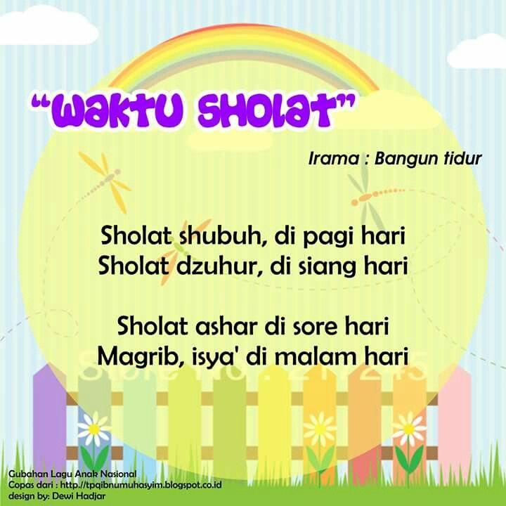 Waktu Sholat (original song Bangun Tidur)