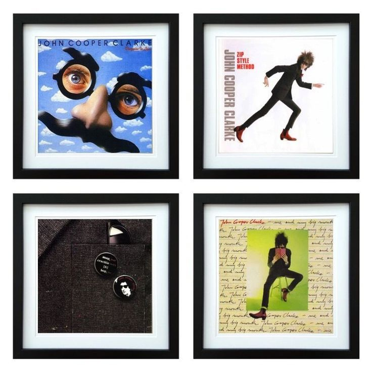 John Cooper Clarke | Framed Album Art Set of 4 Images | ArtRockStore
