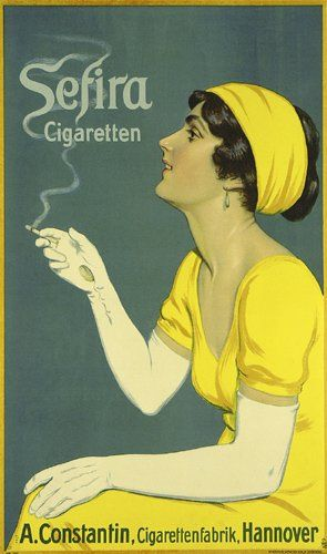 Citrus Yellow: vintage cigarette ad
