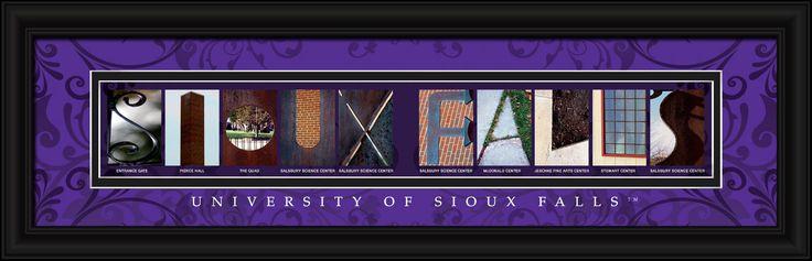 University of Sioux Falls Officially Licensed Framed Letter Art