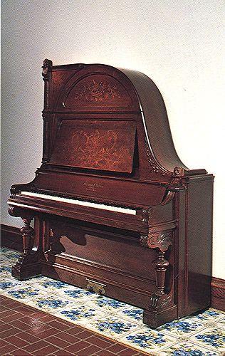 Upright grand (giraffe) piano by Schimmel & Nelson, Faribault,  Minnesota, ca. 1889.  thepiano