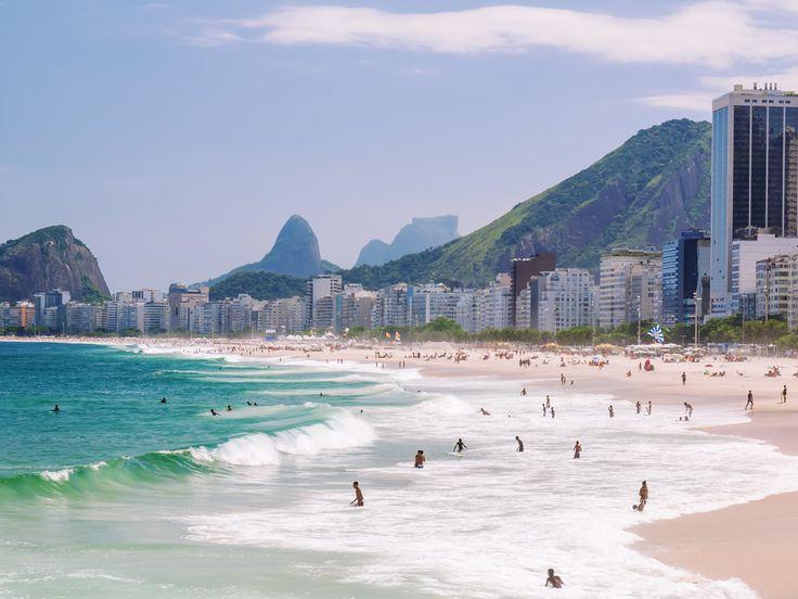 Copacabana Beach is one of the popular tourist attractions in Rio De Janeiro, Brazil.