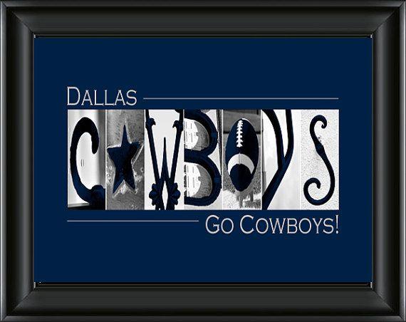 Dallas Cowboys Football Alphabet Photography Image **FREE DOMESTIC SHIPPING**