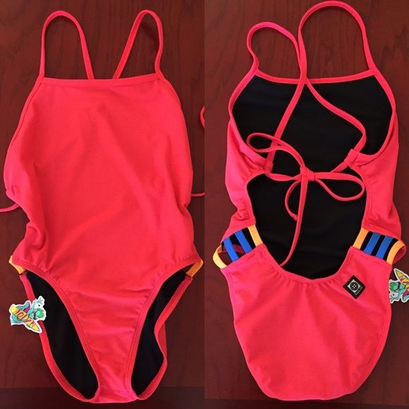cbe6dc4285d1e Jolyn Clothing Swim - NWT Gavin Lava/Orange/Deep Blue Sea Onesie | The Swim  Life | Bathing suits, Swimsuits, Olympic swimming
