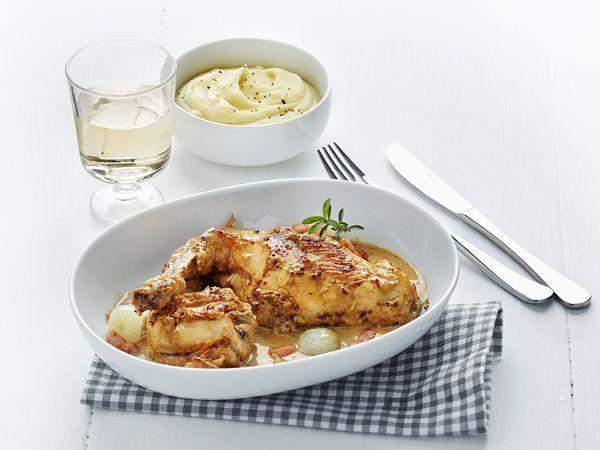 Oosters stoofpotje met kip en bloemkool