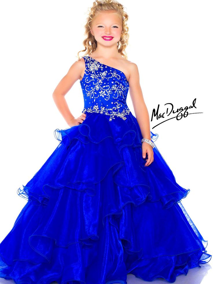pageant dresses for girls 7-16 | ... Beaded Bodice Ruffled Organza Sugar Little Girl Pageant Dress 43106s