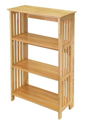 Special Offers - Winsome Wood Foldable 4-Tier Shelf Natural - In stock & Free Shipping. You can save more money! Check It (March 28 2016 at 10:00AM) >> http://bathvanitiesusa.net/winsome-wood-foldable-4-tier-shelf-natural/