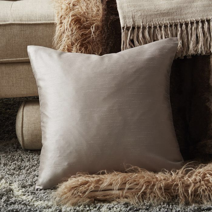 Appley Solid Luxe Synthetic Throw Pillow
