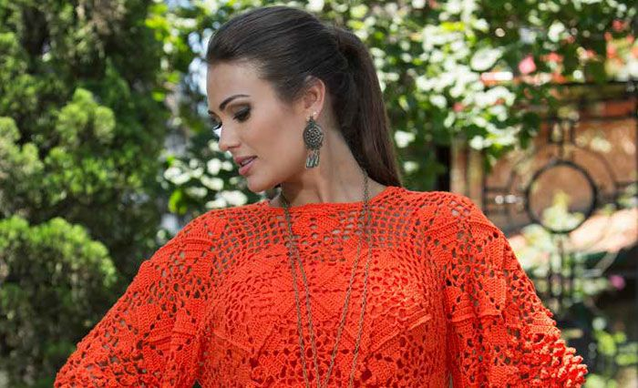 Blusa laranja de Manga Cigana – Linha Camila Fashion