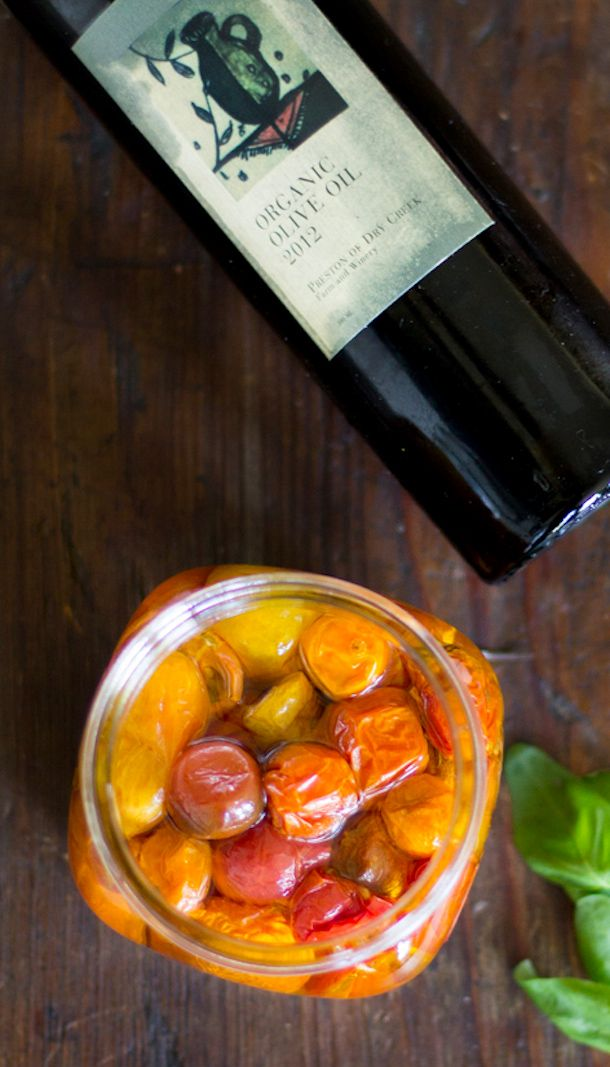 Slow Roasted Cherry Tomatoes Preserved in Olive Oil   heartbeet kitchen