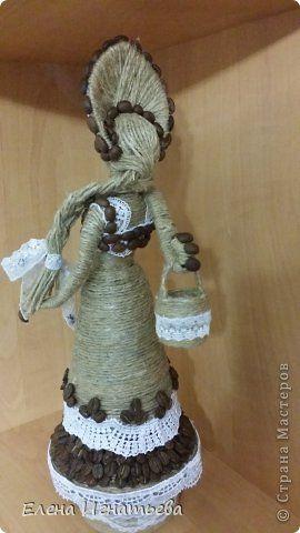 Куклы Моделирование конструирование А я по воду пошла   Кофе Кружево Шпагат фото 4