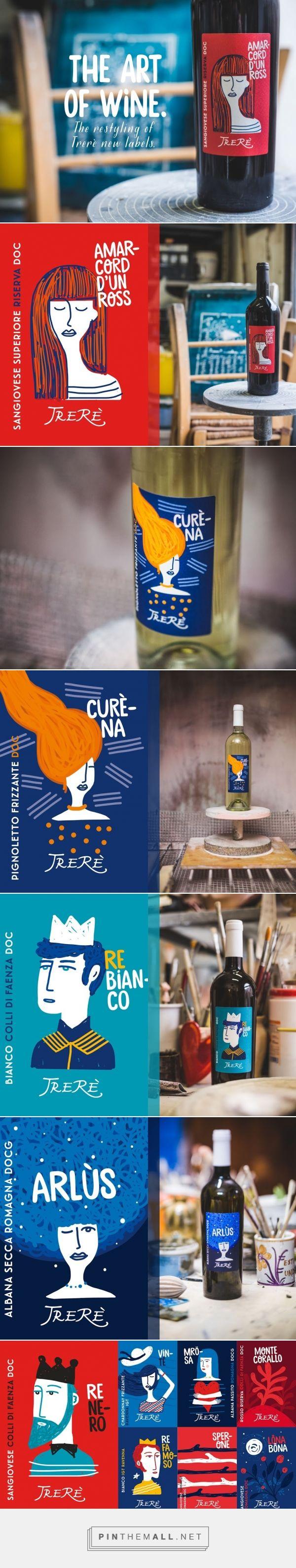 Trerè Wine - Packaging of the World - Creative Package Design Gallery - http://www.packagingoftheworld.com/2016/03/trere-wine.html