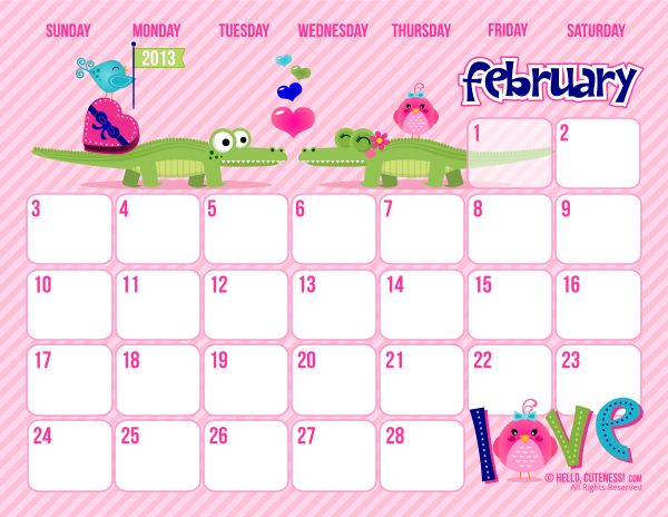 2013 free printable calendars I am going to print for each of my