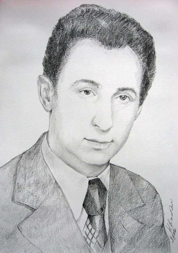 Men's portrait, pencil by Kamila Guzal-Pośrednik