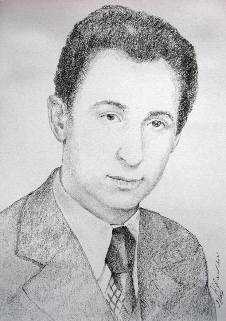Men's portrait, pencil by Kamila Guzal-Pośrednik