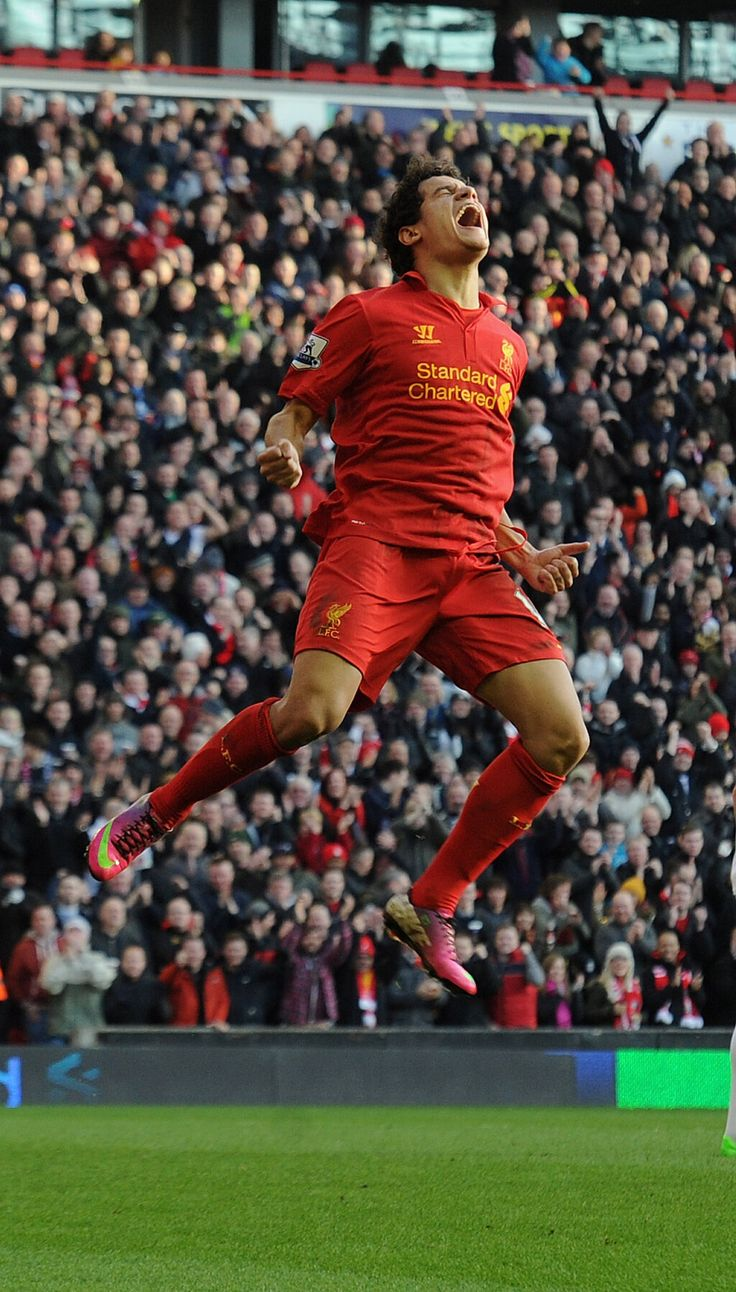 This is how it feels to score on your full debut at Anfield. Welcome Coutinho!