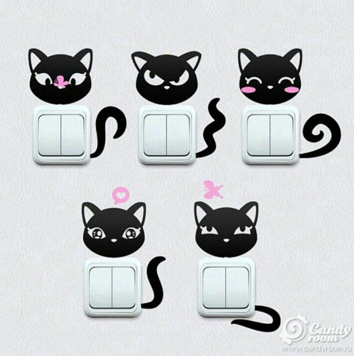 Interruptores de luz con dise o de gatos google - Interruptores de diseno ...