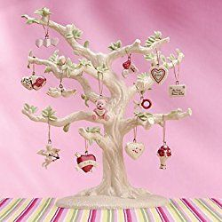 Lenox Set of 12 Valentine's Day Ornaments for Ornament Tree (Tree Not Included) (Be Mine Valentine)