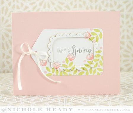 Happy Spring Tag Card by Nichole Heady for Papertrey Ink (March 2014)