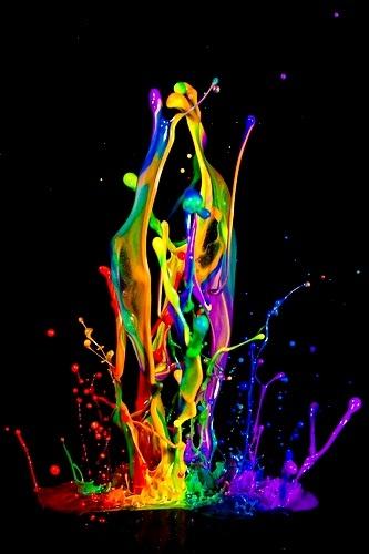 Rainbow colors ❖de l'arc-en-ciel❖❶Toni Kami  paint splash Ryan Taylor Photography flickr.com
