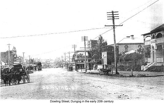Dowling St,Dungog,New South Wales in the early 1900s.A♥W