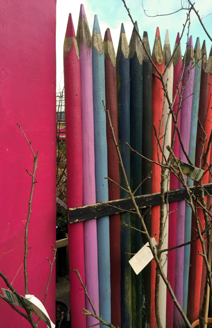 At Ferndale Garden Centre fenceposts become giant pencils