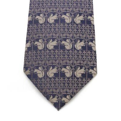 V&A Squirrel Tie (Blue)