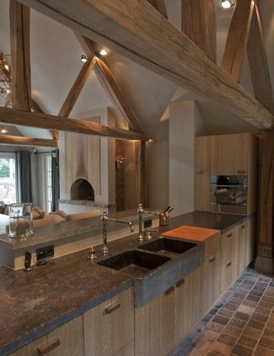 Landelijke Keuken Plafond : 25+ beste ideeën over Houten balken plafond op Pinterest