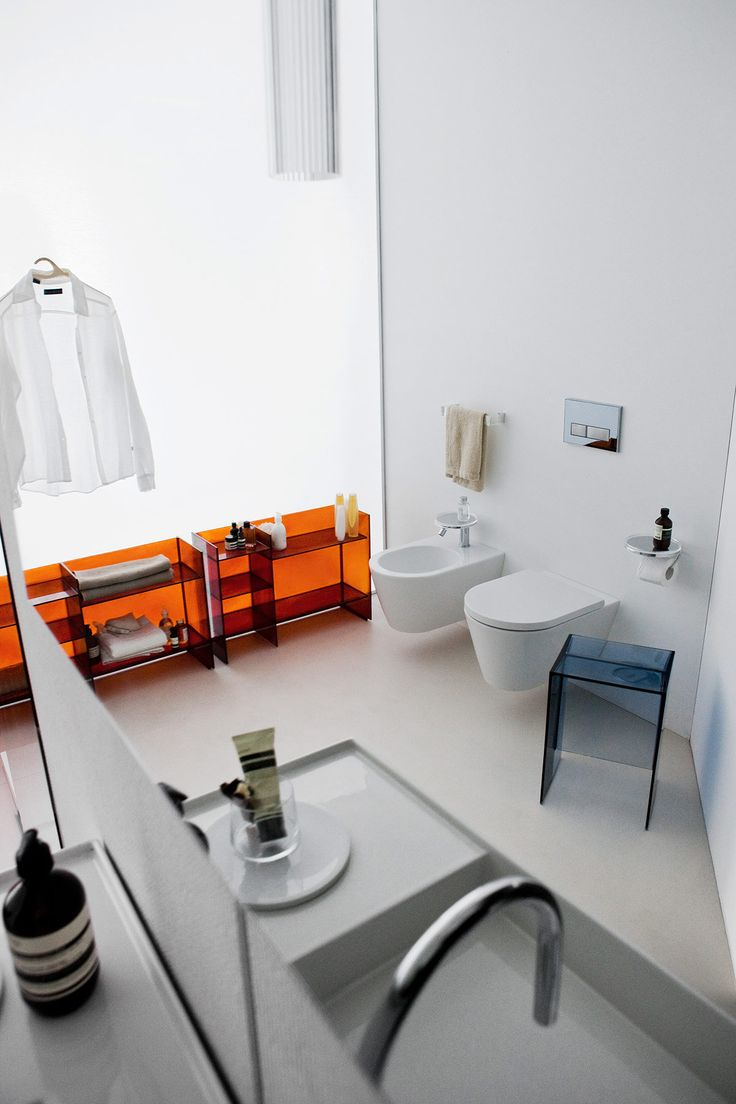 Transitional Kartell Wall Mount Toilet