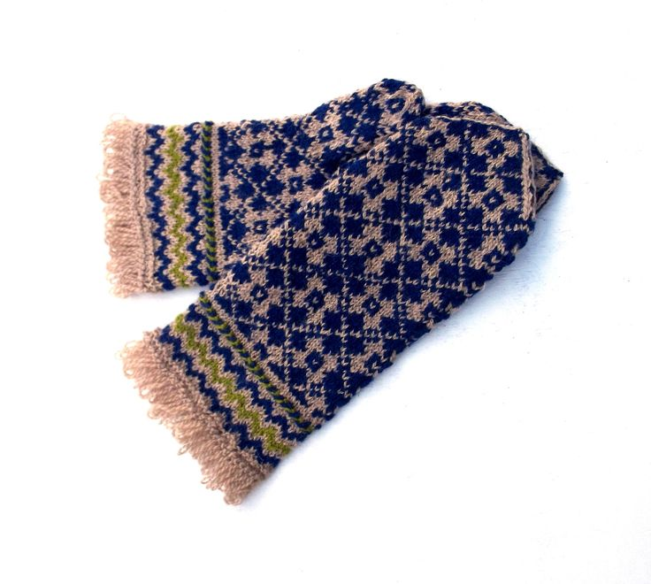 Hand knitted brown blue mittens knitted latvian mittens knit patternet mitts speckled gloves knitting accessories nordic mitts eco friendly by peonijahandmadeshop on Etsy
