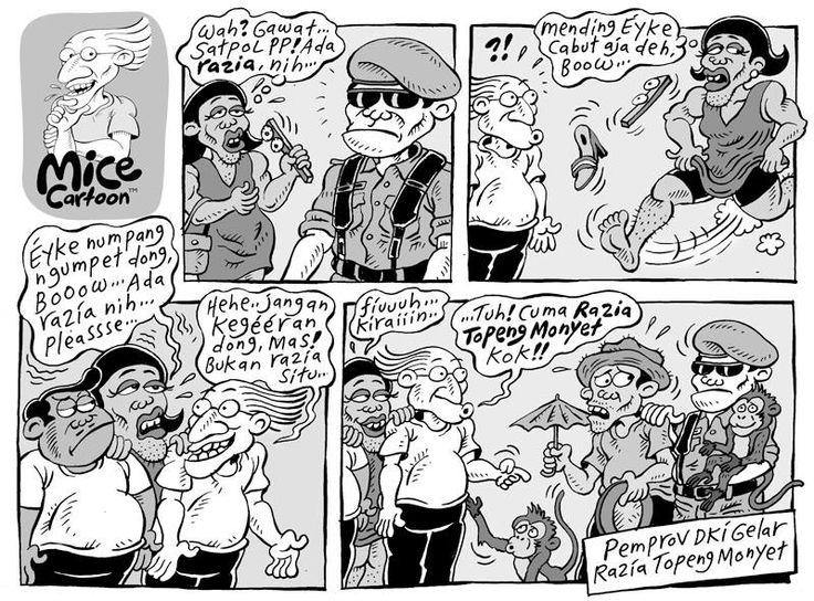Mice Cartoon (Kompas, 27 Oct 2013): Razia Topeng Monyet