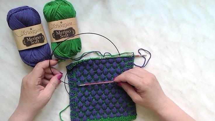 Škola pletení - vzorek pletené bubliny
