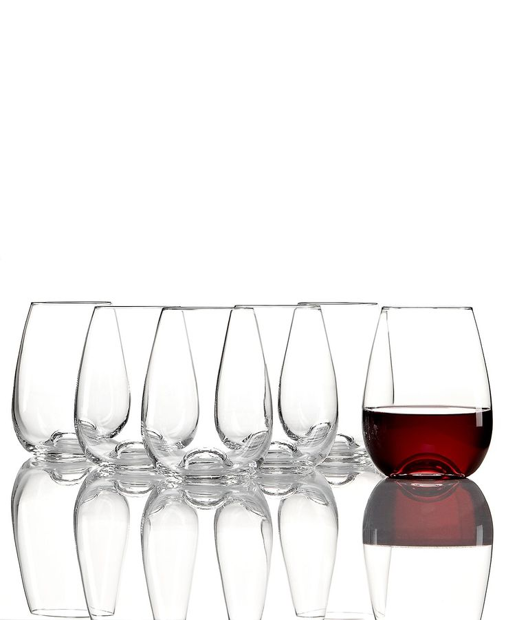 Lenox glassware tuscany classics buy 4 get 6 stemless wine glasses - Lenox stemless red wine glasses ...