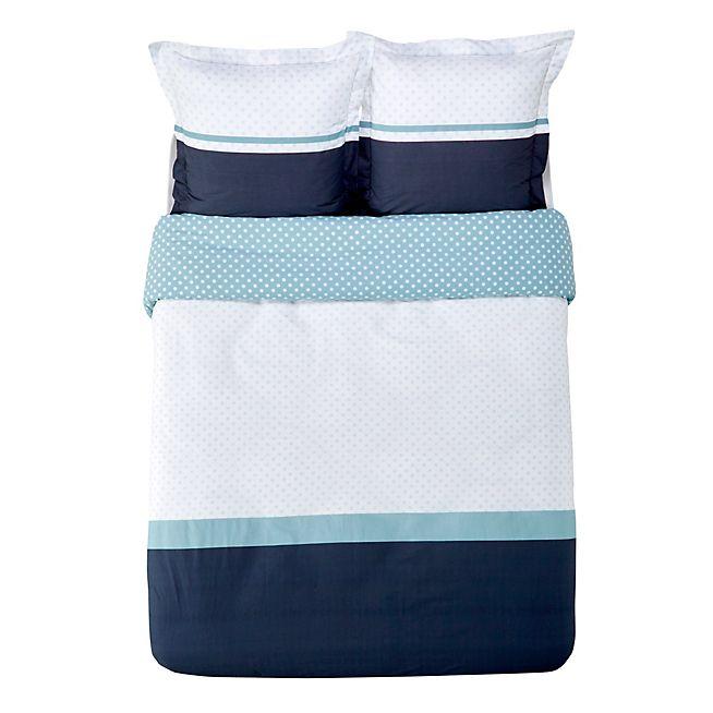 Zoe Housse de couette et 2 taies d'oreiller (Plusieurs tailles disponibles)