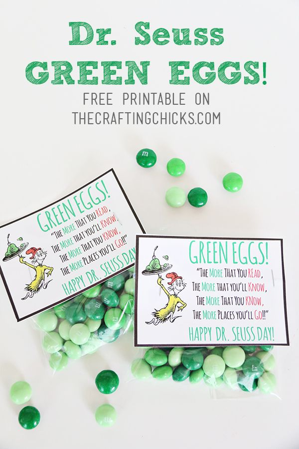 Green eggs, Dr. seuss and Free printable on Pinterest
