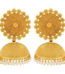 Buy Adwitiya Collection  24K Gold Plated Designer Jhumki Earring for Women jhumka online