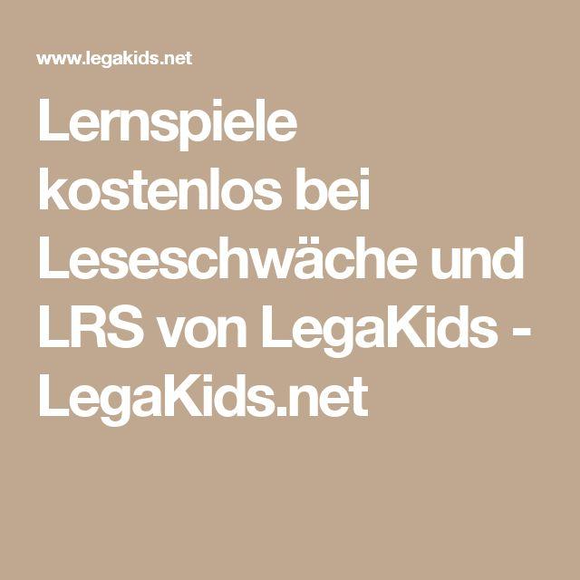 Lernspiele kostenlos bei Leseschwäche und LRS von LegaKids- LegaKids.net