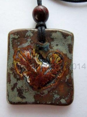 Framed Heart Ceramic Pendant by Tulipe Studios. See more at:  https://www.facebook.com/TulipeStudios