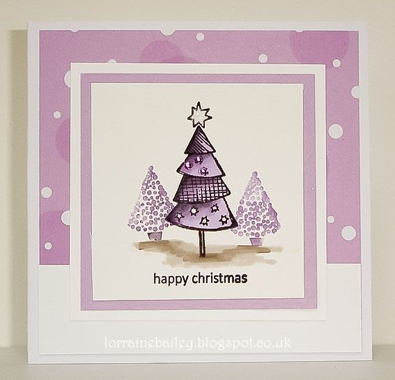 LOTV - Snowflakes and Christmas Trees A5 Sheet by Lorraine Bailey
