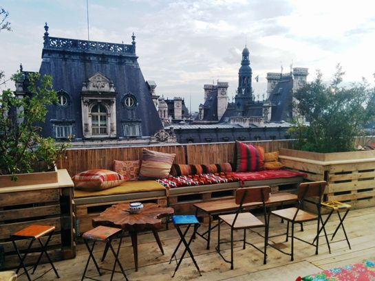 Summer pop-up. Cocktails and gorgeous view. Le Perchoir Marais, 37 rue de la Verrerie 75004