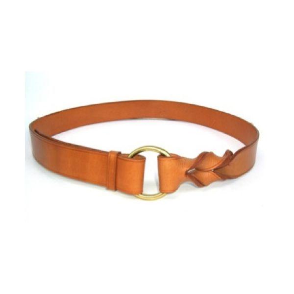 tan twist leather belt