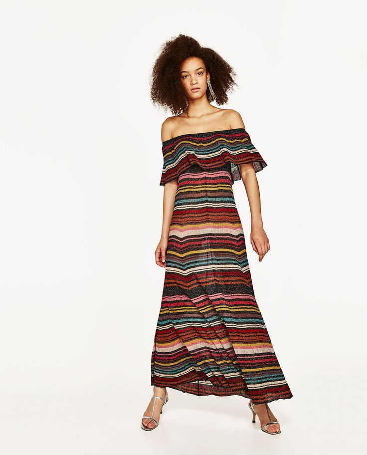 MULTICOLOURED STRIPED DRESS-VACATION EDIT-WOMAN-EDITORIALS | ZARA United States