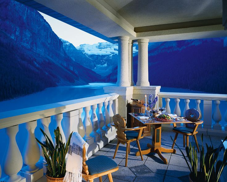 The patio view from Chateau Lake Louise.: Lake Louise, Canadian Rocky, Fairmont Chateau, Chateau Lakes, Alberta Canada, Places, Lakes Louise, Luxury Hotels, Banff National Parks