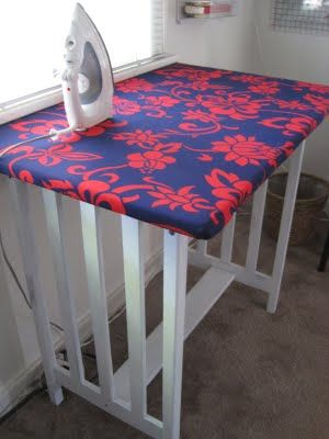 How to turn an table into an over-sized ironing board that's perfect for big projects and quilts.