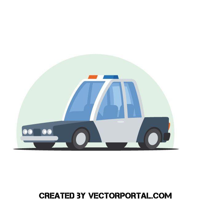 Cartoon Police Car Vector Car Vector Police Cars Police