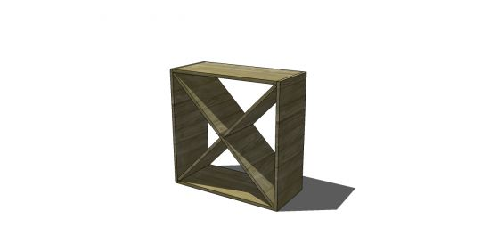Free DIY Furniture Plans: How to Build a Cellar Wine Rack and X Cube Shelves | The Design Confidential